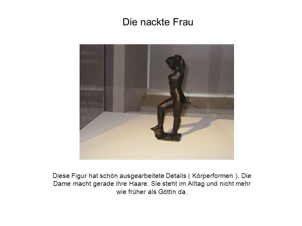 Der Künstler, der diese Skulptur gemacht hat, wollte etwas anderes ausprobieren.