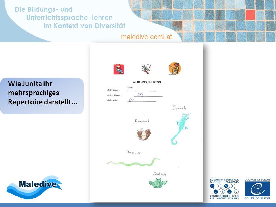 Die Bildungs- und Unterrichtssprache lehren im Kontext von Diversität maledive.ecml.at Bildungs- und Sprachbiographie Mehrsprachiges Repertoire – Ital