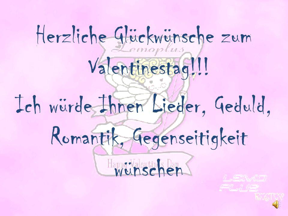 Herzliche Glückwünsche zum Valentinestag!!.