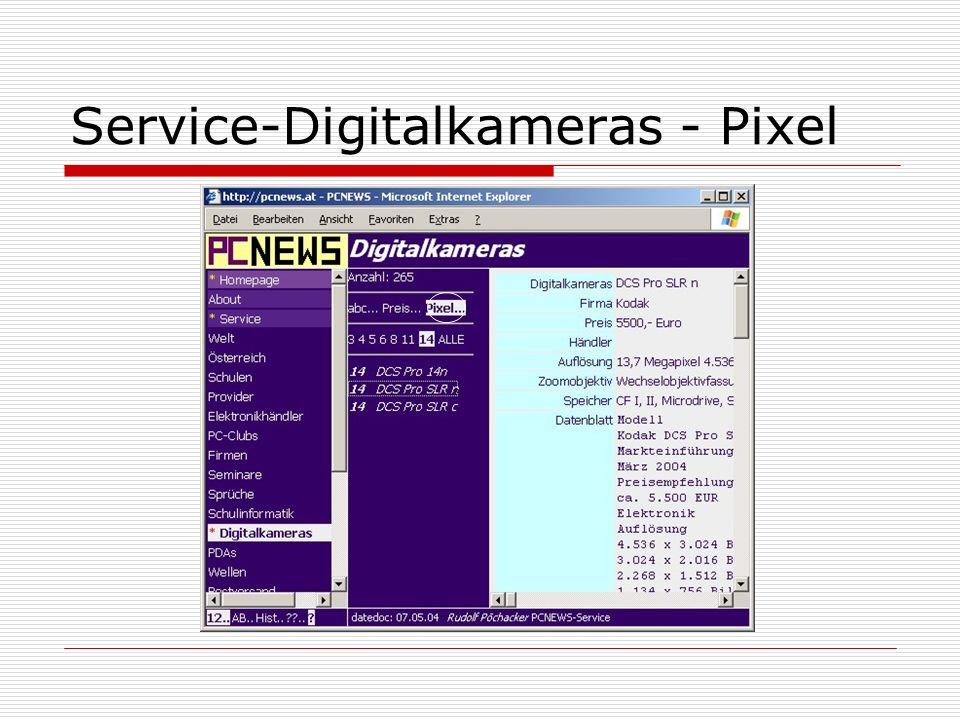 Service-Digitalkameras - Pixel