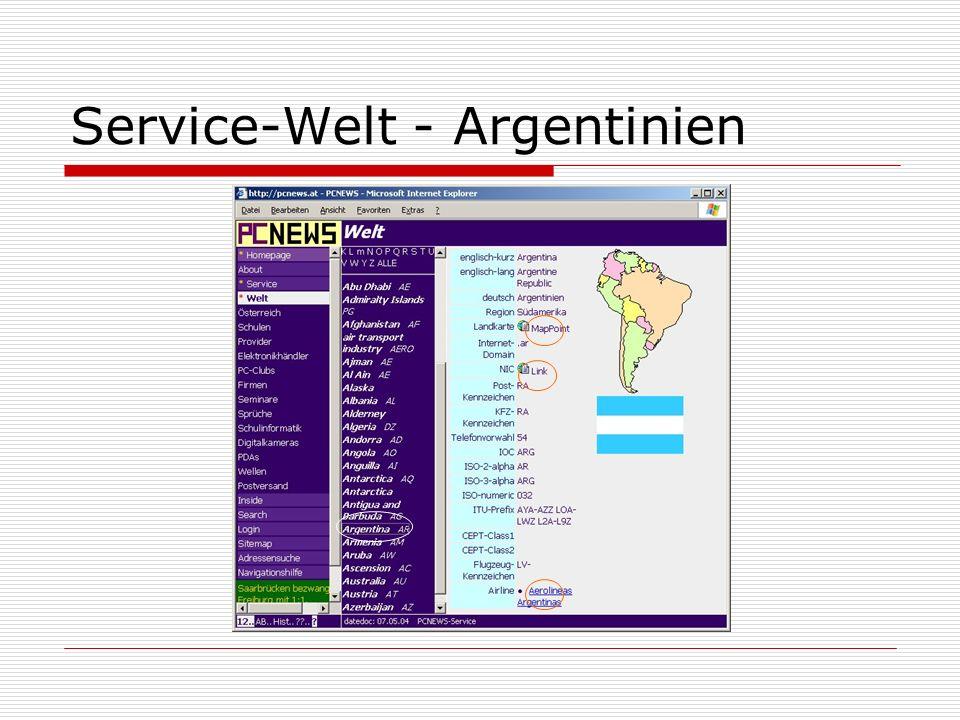 Service-Welt - Argentinien