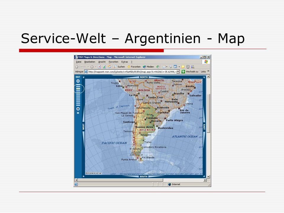 Service-Welt – Argentinien - Map