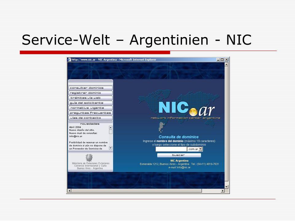 Service-Welt – Argentinien - NIC