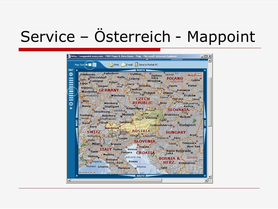 Service – Österreich - Mappoint