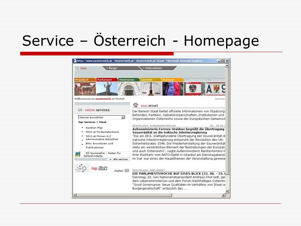 Service – Österreich - Homepage