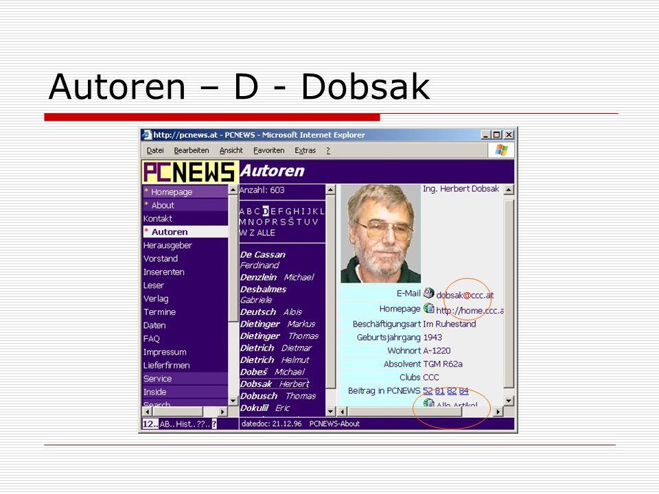 Autoren – D - Dobsak