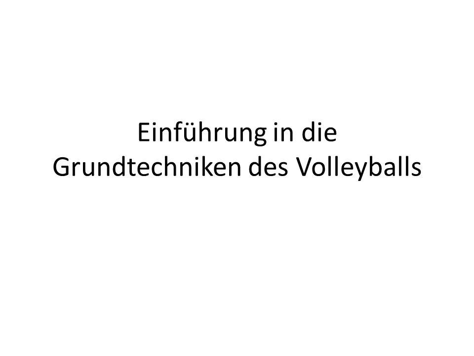 Einführung in die Grundtechniken des Volleyballs