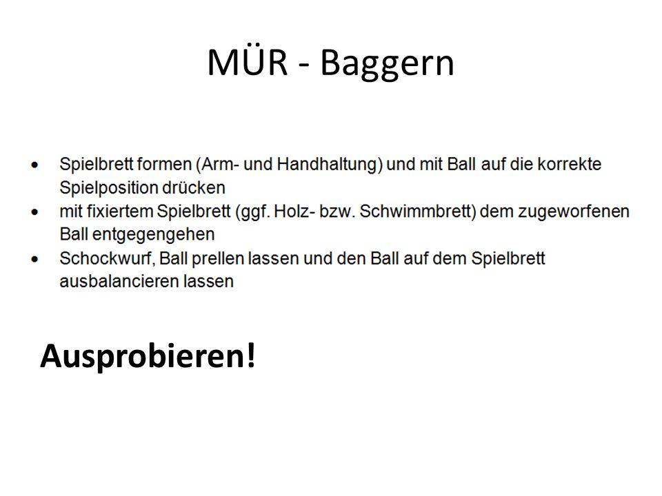 MÜR - Baggern Ausprobieren!