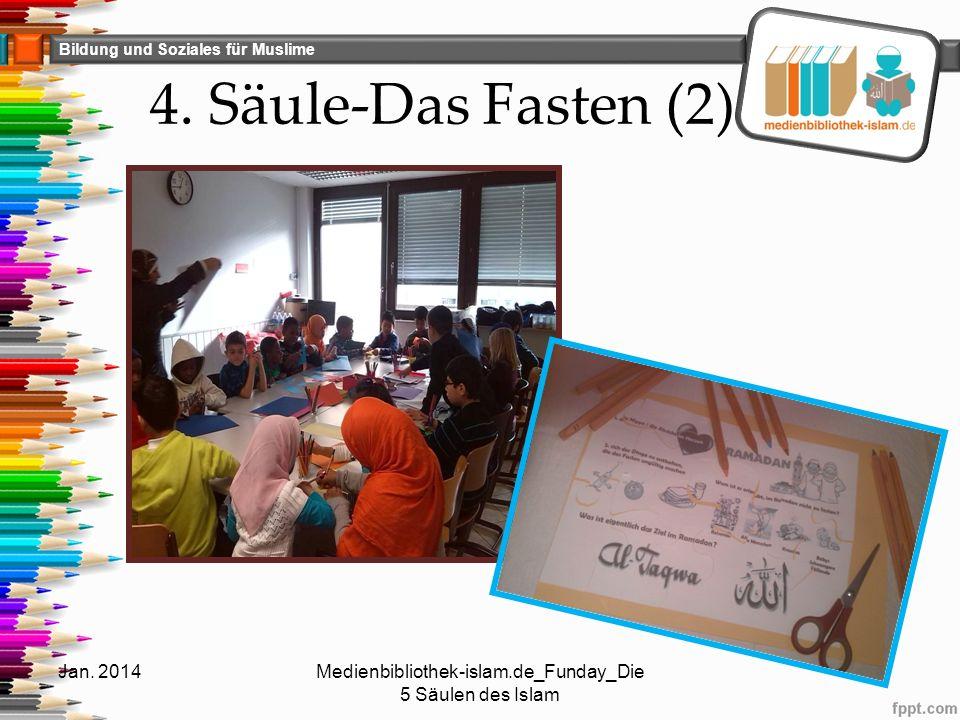 Bildung und Soziales für Muslime 4. Säule-Das Fasten (2) Jan. 2014Medienbibliothek-islam.de_Funday_Die 5 Säulen des Islam