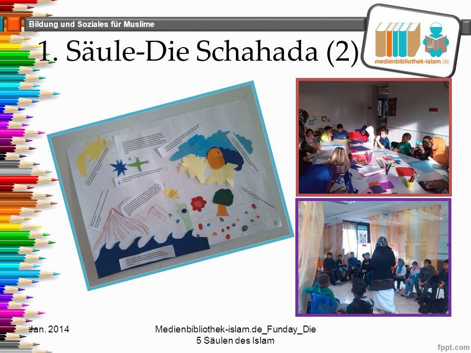 Bildung und Soziales für Muslime 1. Säule-Die Schahada (2) Jan. 2014Medienbibliothek-islam.de_Funday_Die 5 Säulen des Islam