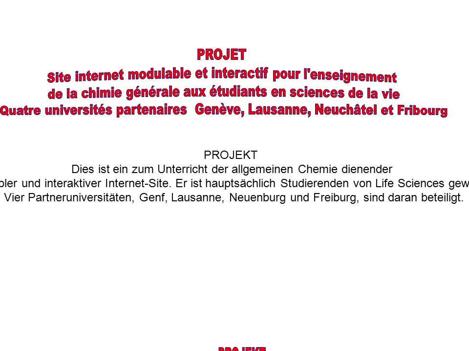 Version définitive trilingue : Français, Anglais, Allemand.
