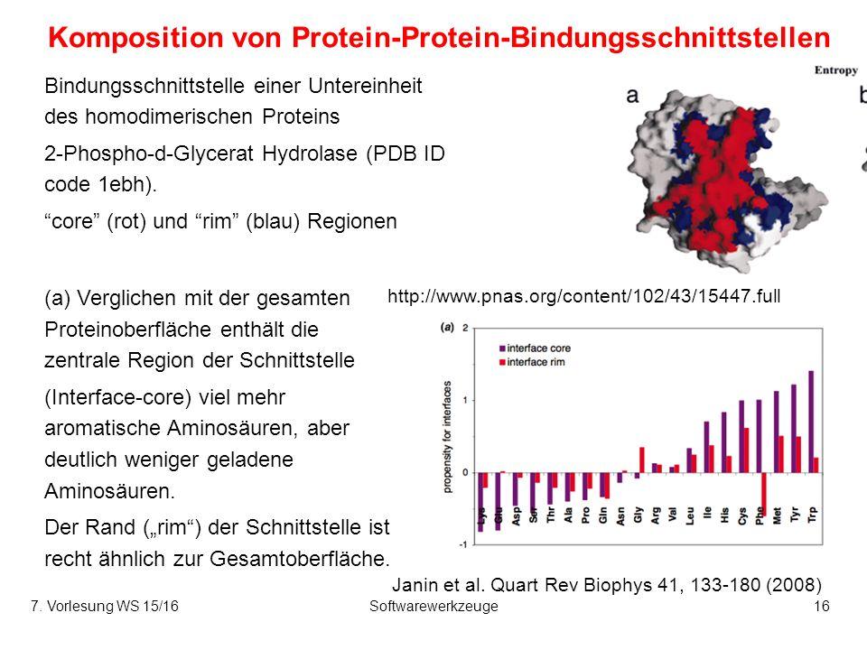 Komposition von Protein-Protein-Bindungsschnittstellen Janin et al.