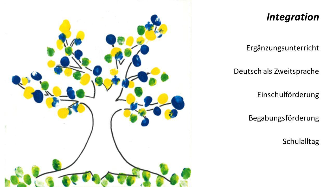 Ergänzungsunterricht Deutsch als Zweitsprache Einschulförderung Begabungsförderung Schulalltag Vielfalt sehen wir als eine Stärke unserer Gesellschaft.