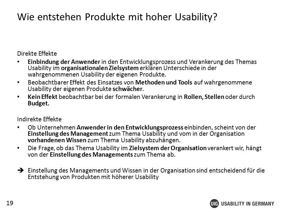 19 Wie entstehen Produkte mit hoher Usability.
