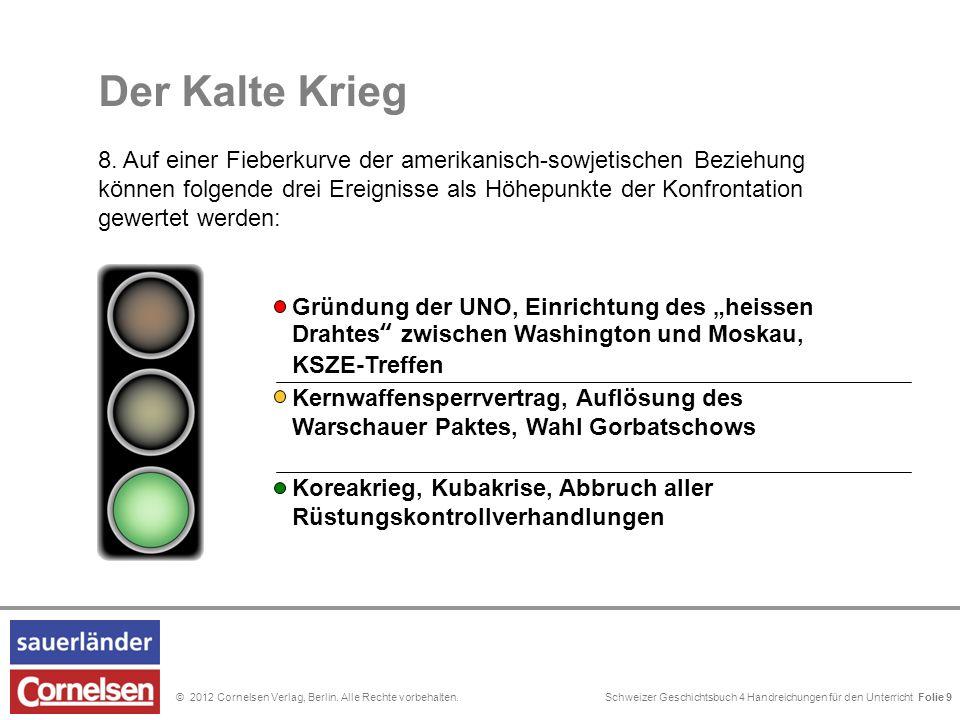Schweizer Geschichtsbuch 4 Handreichungen für den Unterricht Folie 0© 2012 Cornelsen Verlag, Berlin. Alle Rechte vorbehalten. Der Kalte Krieg 8. Auf e