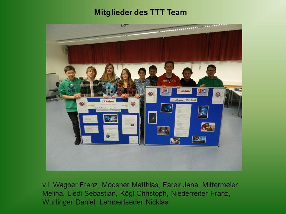 Mitglieder des TTT Team v.l.