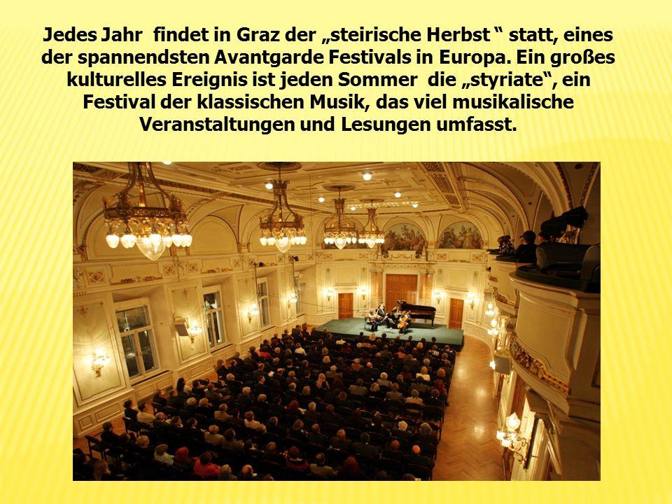 """Jedes Jahr findet in Graz der """"steirische Herbst """" statt, eines der spannendsten Avantgarde Festivals in Europa. Ein großes kulturelles Ereignis ist j"""