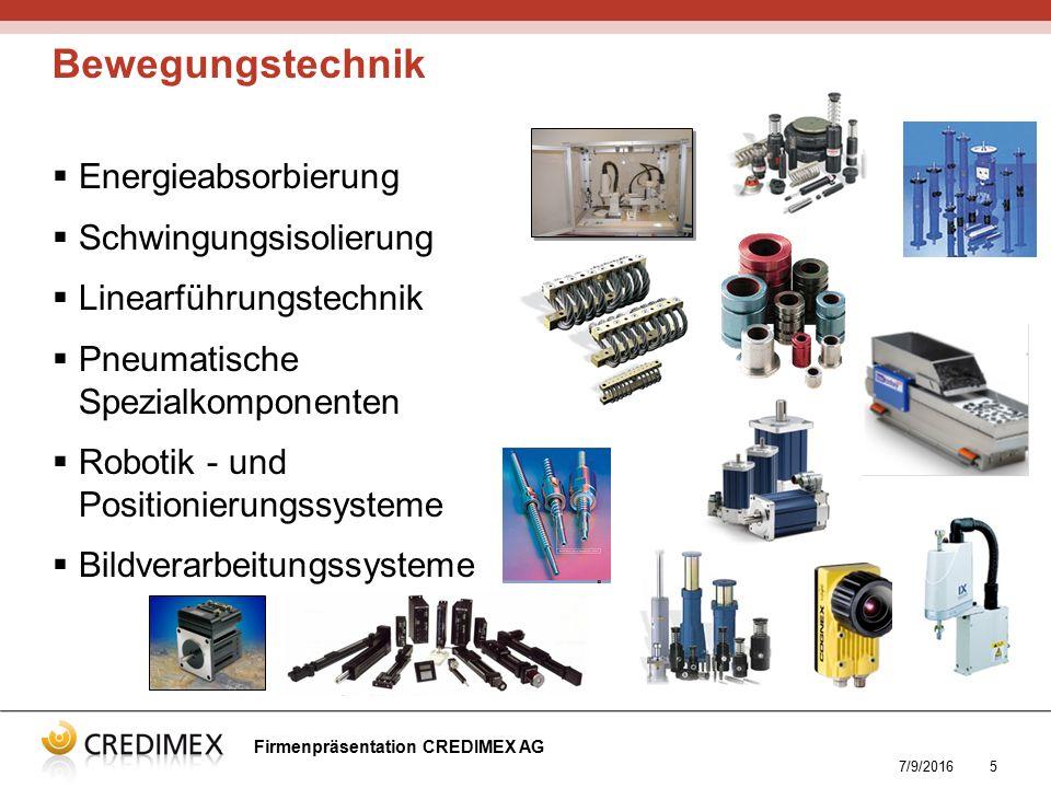7/9/20165  Energieabsorbierung  Schwingungsisolierung  Linearführungstechnik  Pneumatische Spezialkomponenten  Robotik - und Positionierungssyste