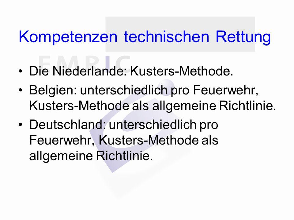 Kompetenzen technischen Rettung Die Niederlande: Kusters-Methode.
