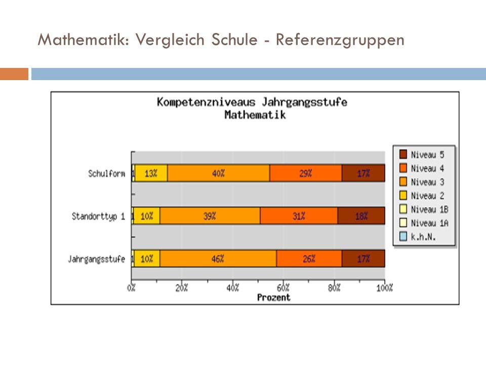 Mathematik: Vergleich Schule - Referenzgruppen