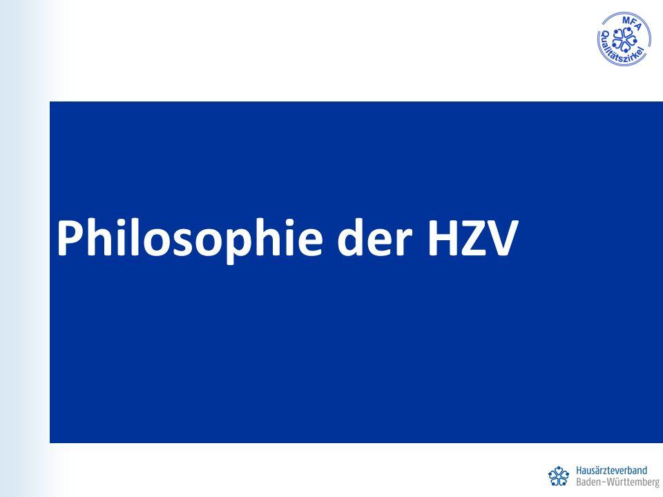 Philosophie der HZV