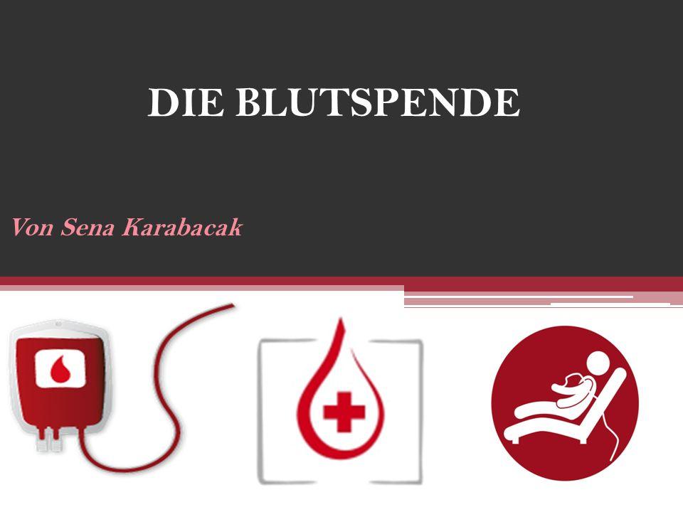 DIE BLUTSPENDE Von Sena Karabacak