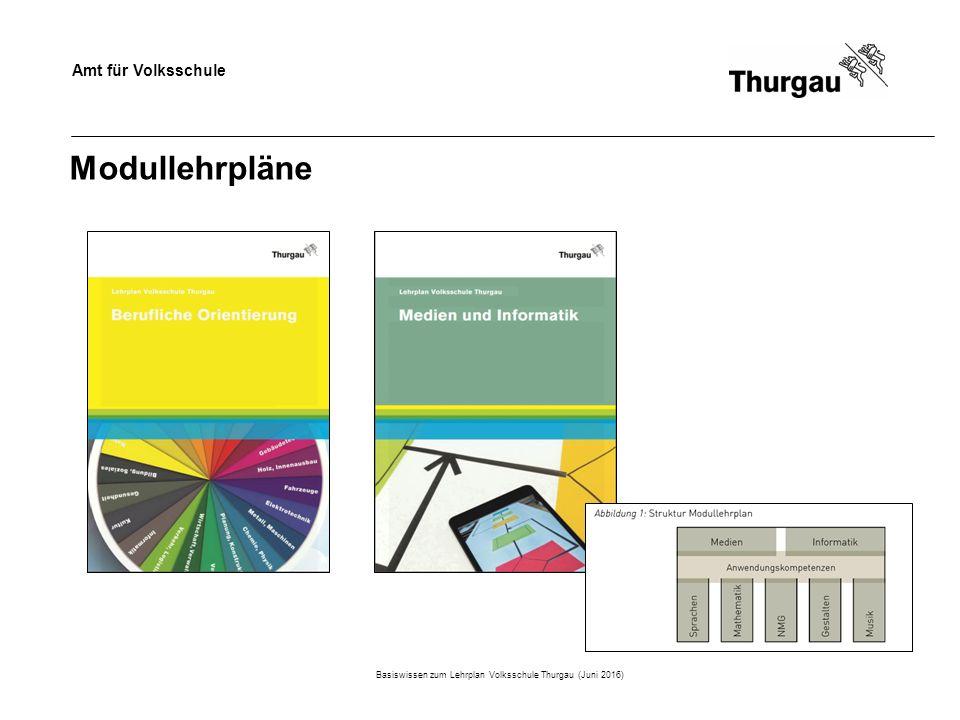 Amt für Volksschule Modullehrpläne Basiswissen zum Lehrplan Volksschule Thurgau (Juni 2016)