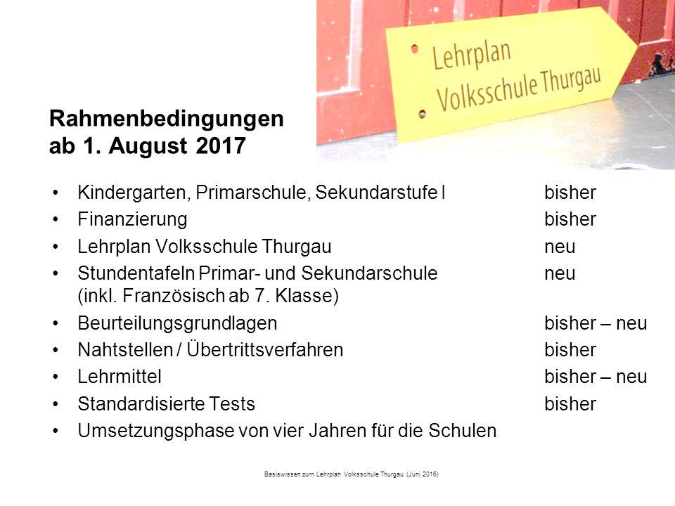 Amt für Volksschule Rahmenbedingungen ab 1.