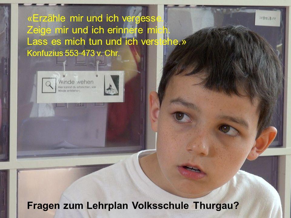 Amt für Volksschule «Erzähle mir und ich vergesse.