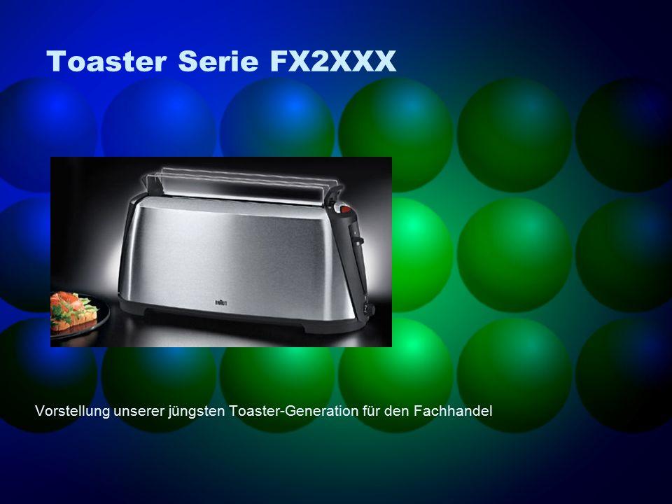 Toaster Serie FX2XXX Vorstellung unserer jüngsten Toaster-Generation für den Fachhandel