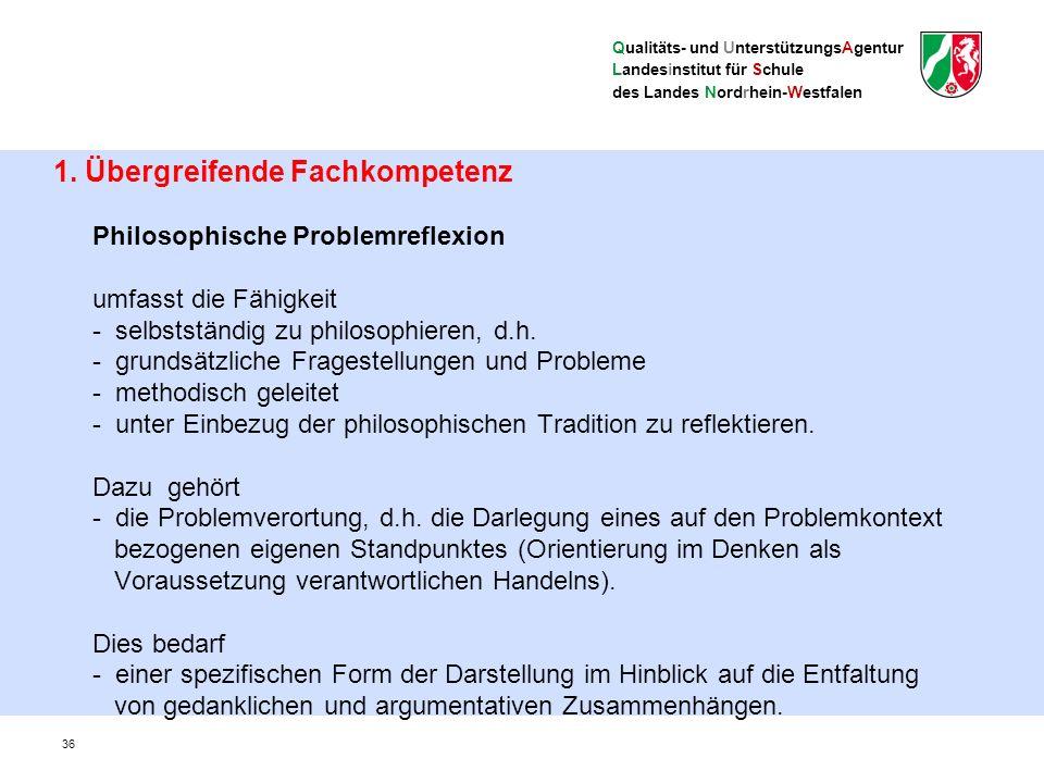 Qualitäts- und UnterstützungsAgentur Landesinstitut für Schule des Landes Nordrhein-Westfalen 1.