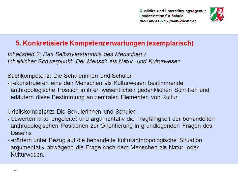 Qualitäts- und UnterstützungsAgentur Landesinstitut für Schule des Landes Nordrhein-Westfalen Lernerfolgsüberprüfung, Leistungsbewertung und Abiturprüfung 41