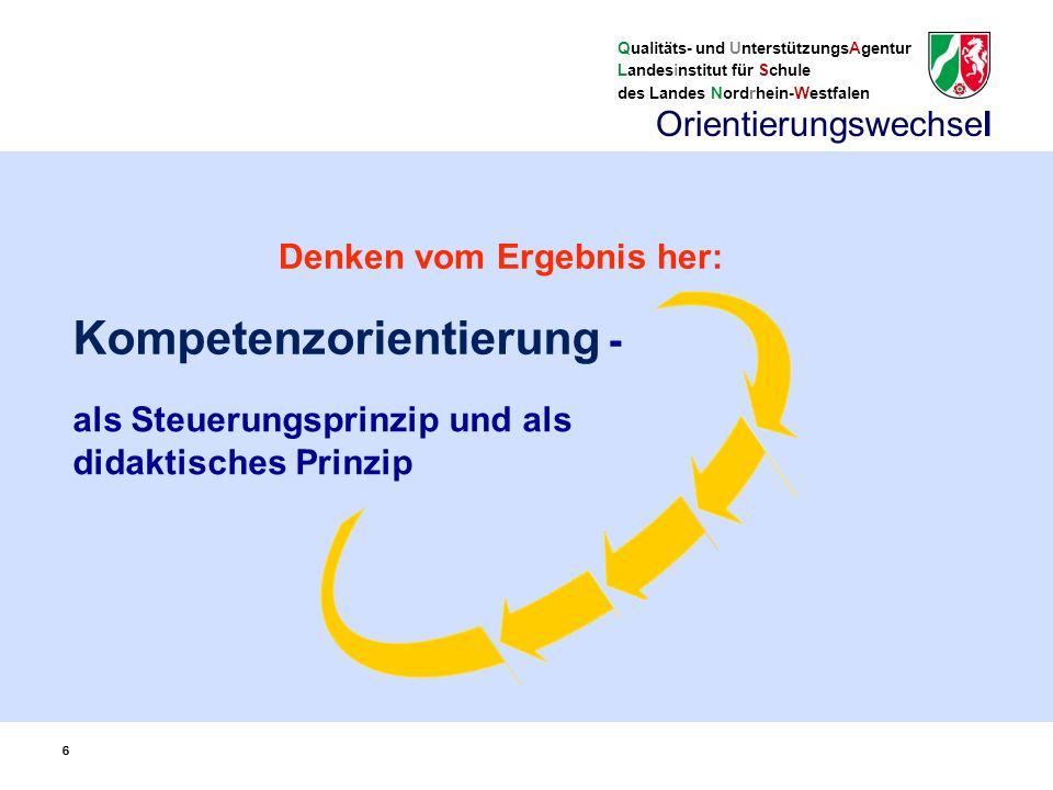 Qualitäts- und UnterstützungsAgentur Landesinstitut für Schule des Landes Nordrhein-Westfalen 77 unterrichtliches Angebot i.S.