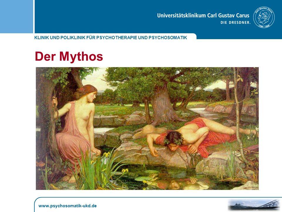 "KLINIK UND POLIKLINIK FÜR PSYCHOTHERAPIE UND PSYCHOSOMATIK www.psychosomatik-ukd.de ""Every psychopathology is a gift of love L."