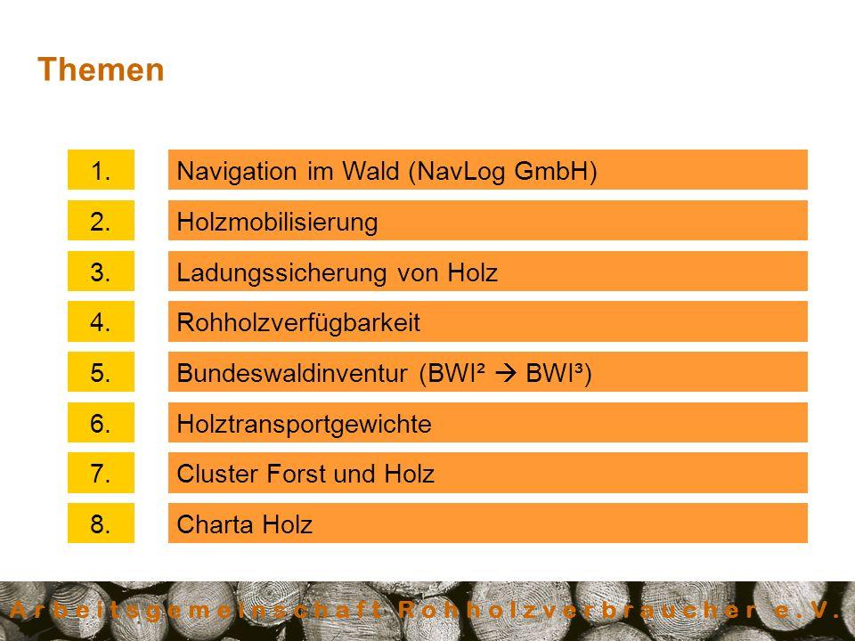 Arbeitsgemeinschaft Rohholzverbraucher e.V.Navigation im Wald (NavLog GmbH)1.