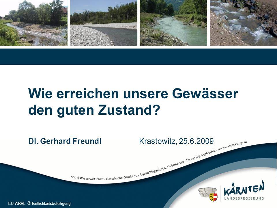 """2 Umweltziele  Ziel gemäß WRRL: Herstellung des """"Guten chemischen und guten ökologischen Zustandes bzw."""