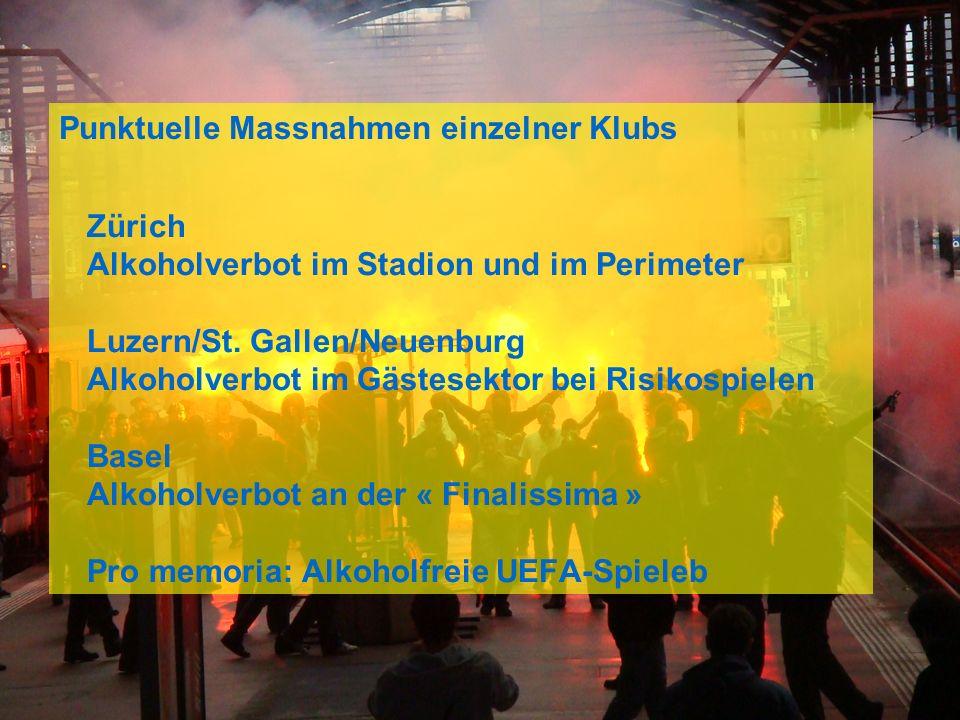 Swiss Olympic Association 4 Zürich Alkoholverbot im Stadion und im Perimeter Luzern/St.