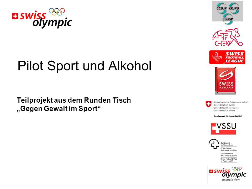 """Pilot Sport und Alkohol Teilprojekt aus dem Runden Tisch """"Gegen Gewalt im Sport"""