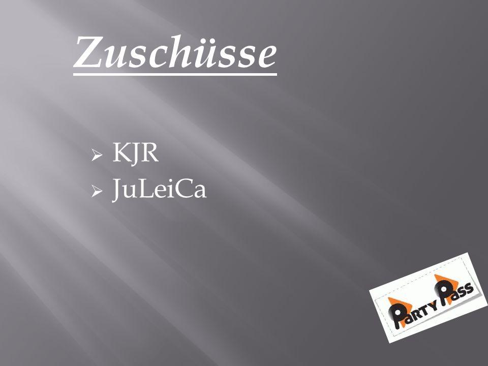 Zuschüsse  KJR  JuLeiCa