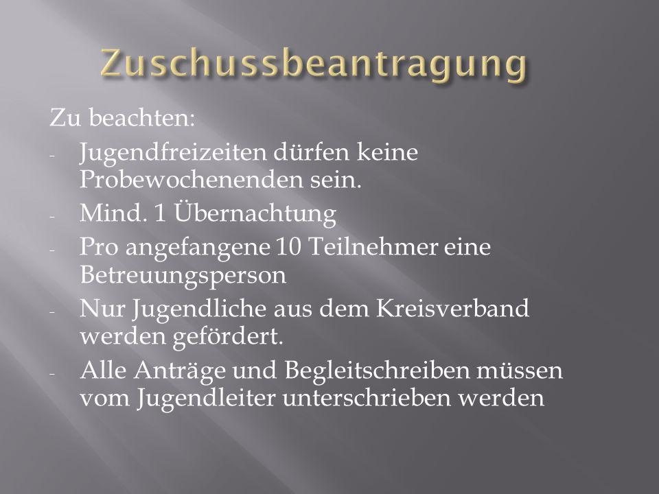  Anträge und Teilnehmerliste aus dem Downloadbereich der BJ – Biberach oder des KJR BC herunterladen.