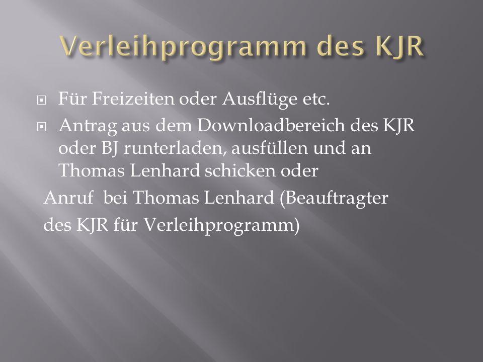 Bei Sonderaktionen muss eine Aufstellung der Ausgaben und Einnahmen + Programm vorhanden sein (siehe Richtlinien KJR).
