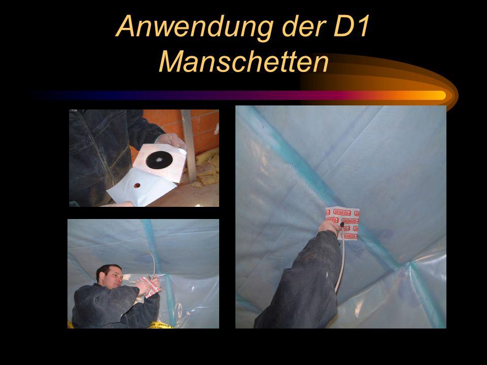 Anwendung der D1 Manschetten