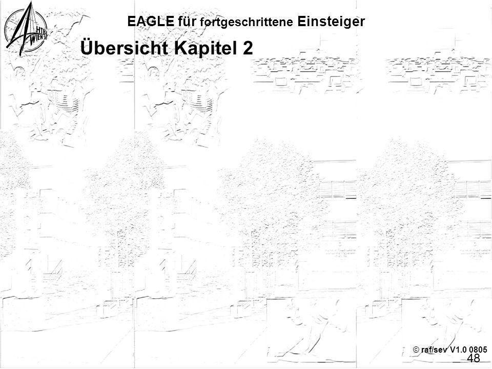 © raf/sev V1.0 0805 EAGLE für fortgeschrittene Einsteiger 47 Die Geister, die ich rief … 2 Hinweis: Symbol und Package(s) bleiben erhalten, sie könnte
