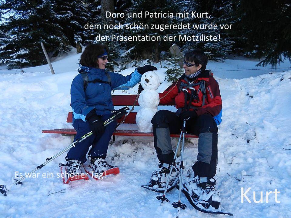 Doro und Patricia mit Kurt, dem noch schön zugeredet wurde vor der Präsentation der Motziliste.