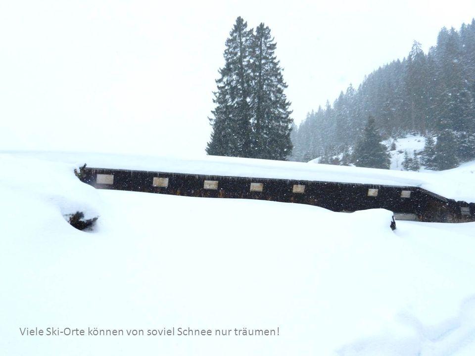 Viele Ski-Orte können von soviel Schnee nur träumen!