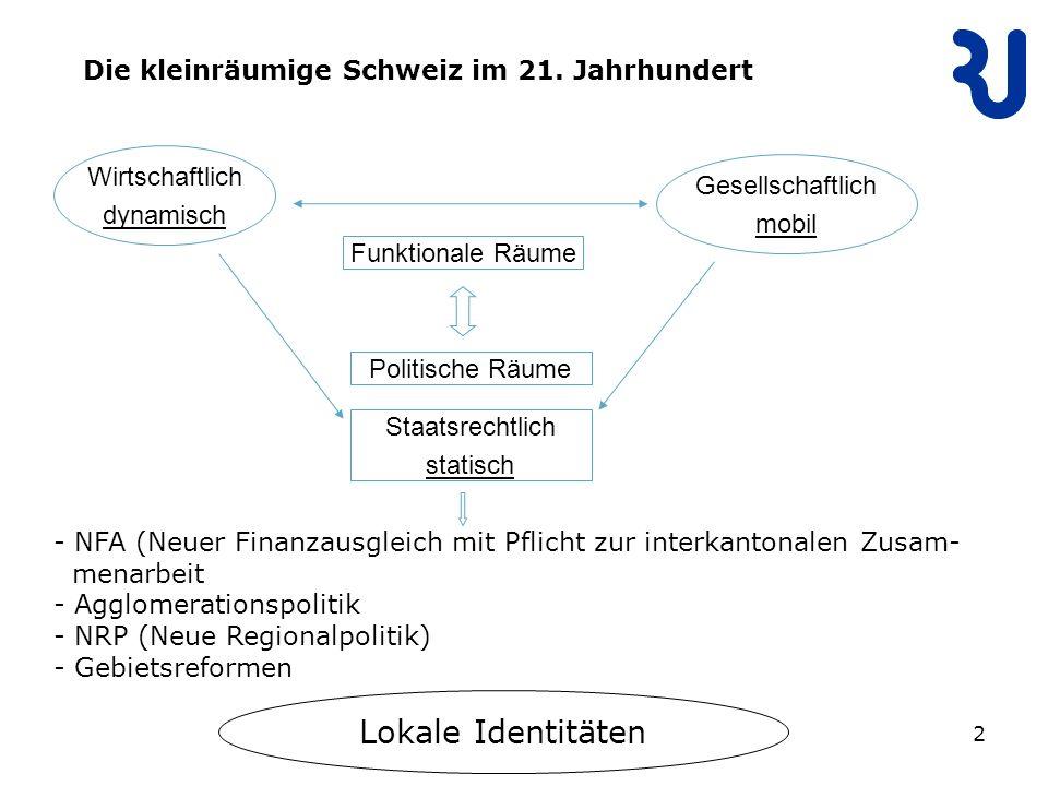 2 Die kleinräumige Schweiz im 21.