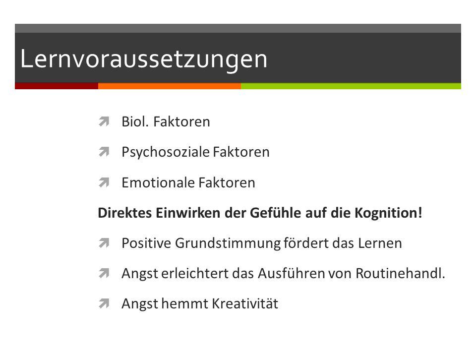 Lernvoraussetzungen  Biol.