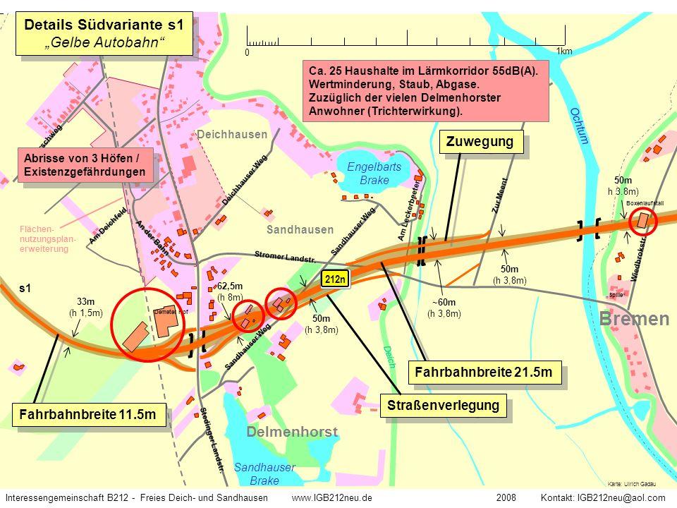 Interessengemeinschaft B212 - Freies Deich- und Sandhausen www.IGB212neu.de 2008 Kontakt: IGB212neu@aol.com Stromer Landstr. Deich Karte: Ulrich Gadau