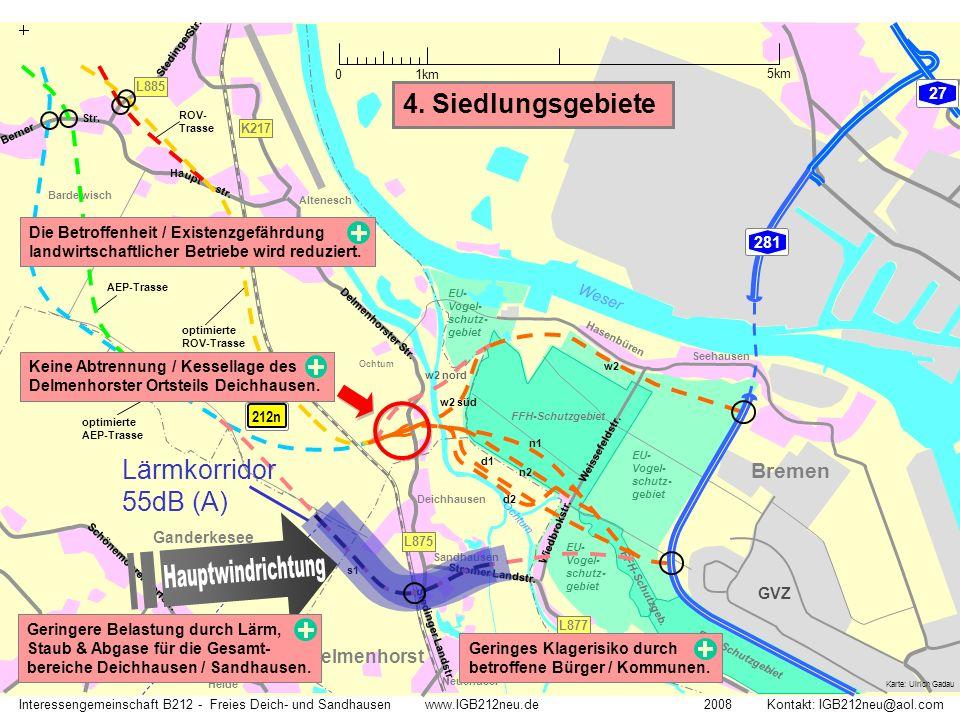 Weser Ochtum Str. Stedinger Landstr. L885 Delmenhorst Stromer Landstr. L877 L875 K217 Barde wisch Altenesch Deichhausen Schönemoor Neuendeel Seehausen