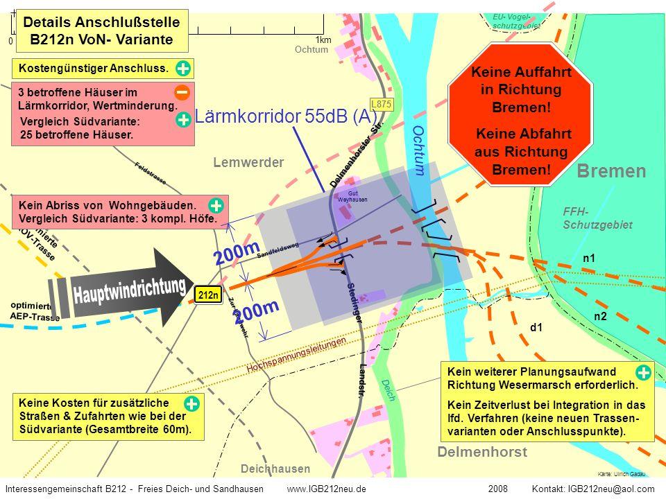 Deich Ochtum Delmenhorst Deichhausen Lemwerder optimierte AEP-Trasse EU- Vogel- schutzgebiet Delmenhorster Str. Bremen w2 nord w2 süd optimierte ROV-T